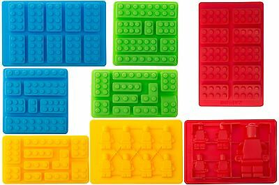 8pc Candy Molds For Lego Lovers Chocolate Molds Ice Cube Molds Silicone Bakin...