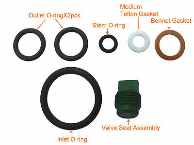 Scuba Tank Valve Rebuild Kit Spare Part Service Kit for Din/Yoke Type # KIT-DK2