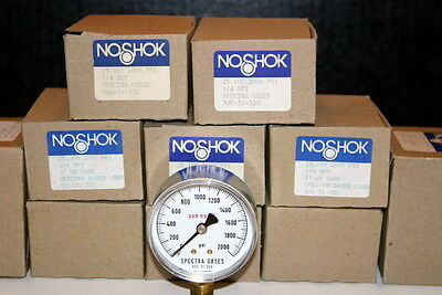 NOSHOK Pressure Guage 0-2000 PSI NEW IN BOX made in Germany LOT 5