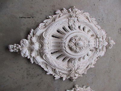 Victorian Plaster Ceiling Rose 90cm x 56cm 2 available