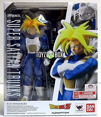 "In STOCK S.H. Figuarts Dragonball Z ""Super Saiyan Armored Trunks"" Action Figure"