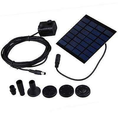 Fountain Water Pumps + Solar Powered Panel Kits For Garden Pond Pools Watering