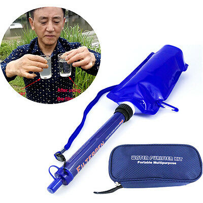 Portable Multipurpose Mini Water Filtration System Purifier Kit outdoor Camping