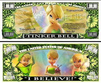 Tinkerbell Million Dollar Collectible Funny Money Novelty Note