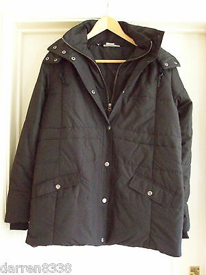 New~Jojo Maman Bebe~Black Puffer Puffa Maternity Coat Various Sizes With Hood
