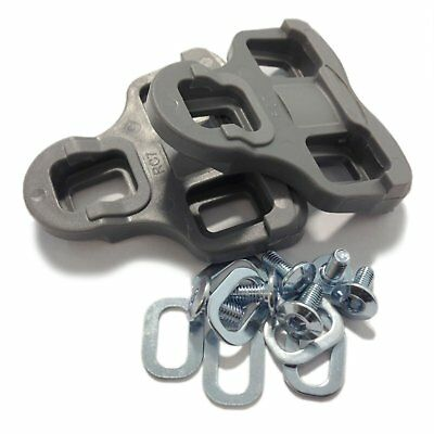 VeloChampion Look Keo Grip Pedal Cleats 9 Degree Float Grey