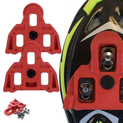 VeloChampion Shimano Pedal Cleats 4.5 Degree Float Red SPD-SL 105, Ultegra, DAce
