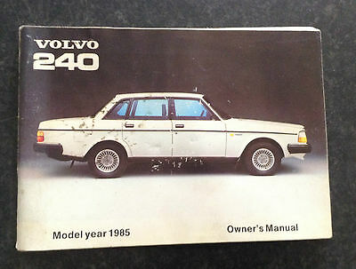 Volvo 240 owners manual