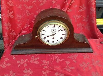 Rare Gustav Becker Ships clock For spares Or Repair Working