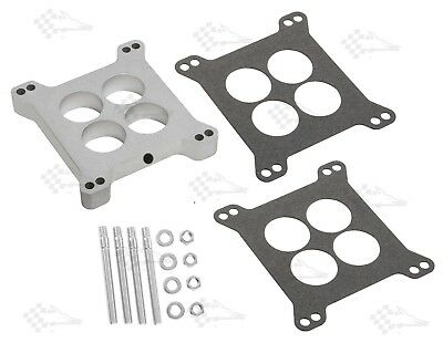 "1"" - One Inch Aluminium Carb Spacer Kit - Ported - Holley / Edelbrock 4bbl"