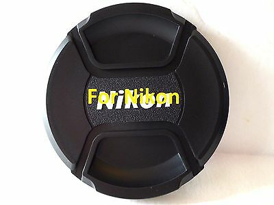55mm Snap on Center Pinch Lens Cap Dust Cover Protector For Nikon New