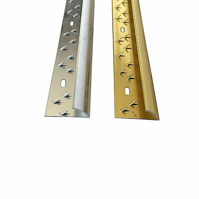 Single Edge Carpet Metal, Door Bar Trim - Brass/Silv​er