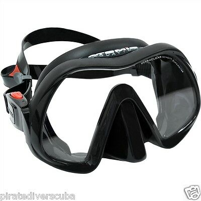 Atomic Aquatics Venom FRAMELESS Mask, NEW with LIFETIME WARRANTY Black