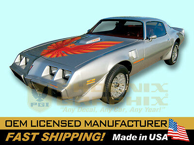 1978 1979 1980 Firebird Trans Am T/A Complete Hood Bird Decal Stripe Graphic Kit