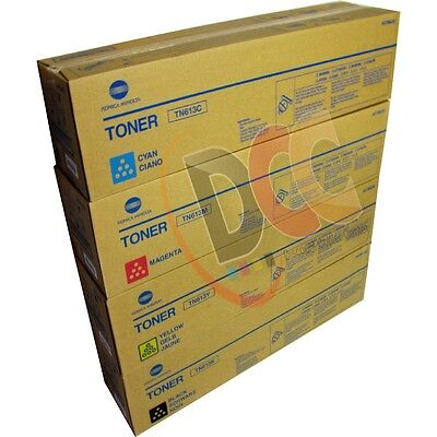 Konica Minolta Bizhub C452 Toner Set Cyan Yellow Magenta Black Genuine