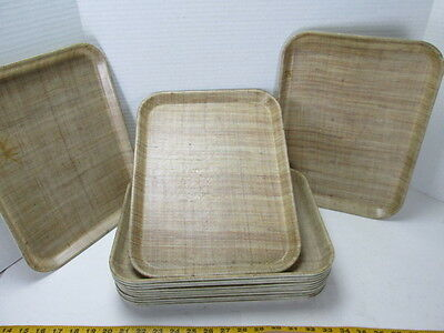 """Lot of 13 Vintage Cambro Camtray Trays Beige's/Browns 10.5""""x13.5"""" Food Service S"""