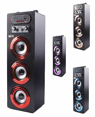 Altavoz Torre Karaoke Portatil Multimedia Bluetooth USB Micro SD Radio FM MP3/P4