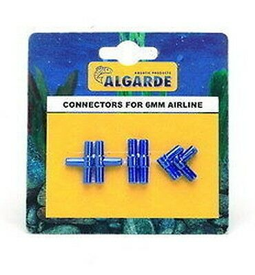 Algarde Air Line Connectors For Fish Tank 6Mm Airline Silicone / Air Pumpgkalb91