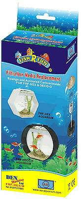 Den Fish R Fun Filter Media Replacement for FRF-HEX and FRF-DECO Aquariums