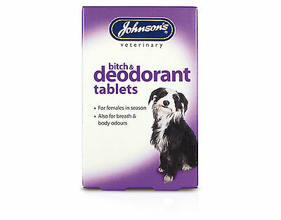 Johnsons Bitch And Deodorant Tablets For Dogs