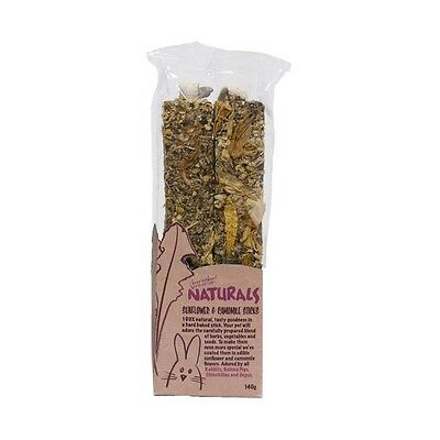 Rosewood naturals sunflower and camomile sticks for small animals 19461