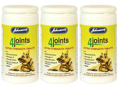 Johnsons 4Joints Extra Strength Tablets Arthritis DogsCats 30Tablets 3 PACK DEAL