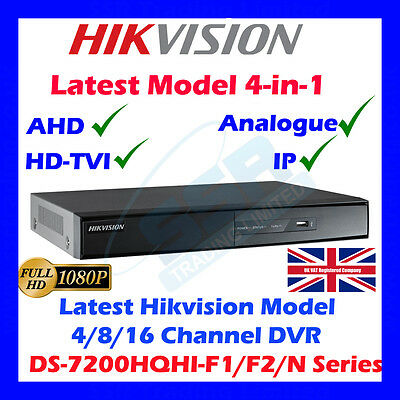 AHD/HDTVI Trubo Hikvision 1080P 4/8/16 Ch DVR CCTV MobileSecurity Video Recorder