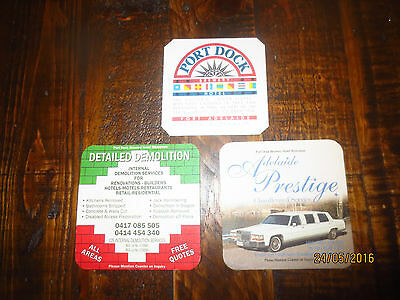 3 Different' PORT DOCK  BREWERY,South Australia collectable COASTERS