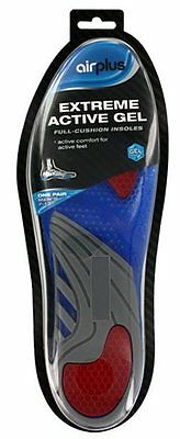 Mens Airplus Extreme Active Gel Full Cushion Insoles Size 7-13 Sport Comfort