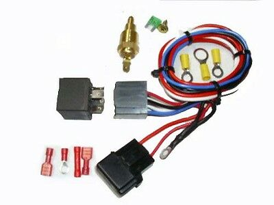 """WIRING & 30 AMP RELAY & TEMPERATURE CONTROL SUIT 9"""" THERMO fAN"""