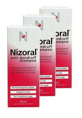 Nizoral Anti Dandruff Shampoo 60ml 3 PACK DEAL**Free Delivery**