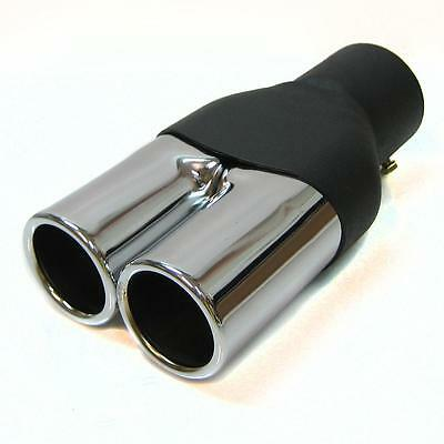 Exhaust Frame Double pipe End Chrome New for Peugeot 106 206 406 306 307 308