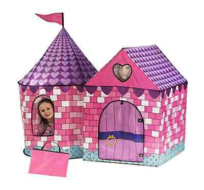 Castle Tent Girls Canopy Fairy Tale Kids Toys Play House Room Portable Outdoor