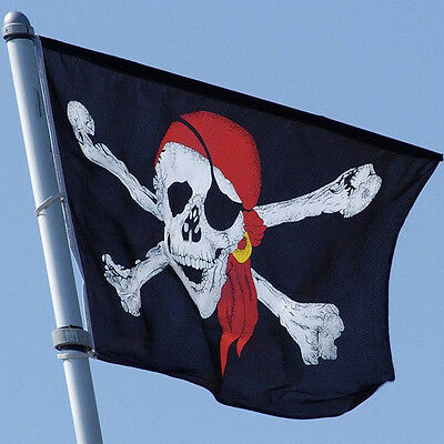 1Pcs Large Skull Crossbones Pirate Flag Jolly Roger Hanging With Grommet Hot