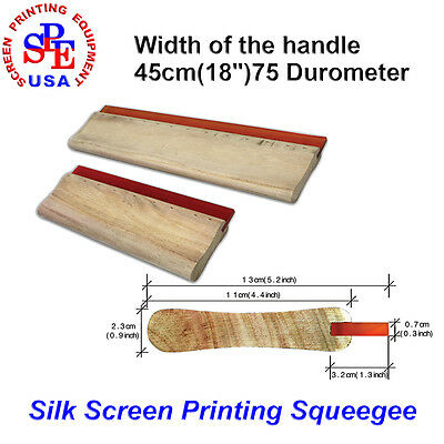 "Screen printing squeegee handle with 75 DURO blade 18"" Widen Woodle Handle"