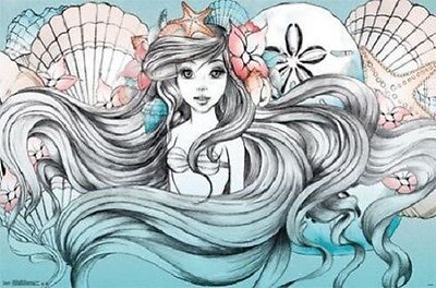 ARIEL MERMAID BY LAND OR SEA POSTER 34x22 NEW FAST SHIPPING
