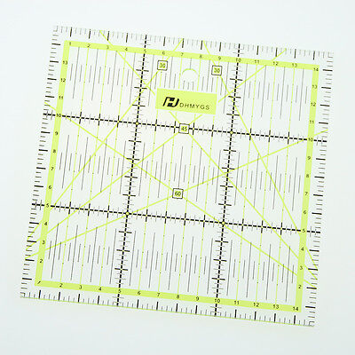 Quilting Sewing Patchwork Foot Ruler Quilt Thick Transparent Tailor Craft 15cm