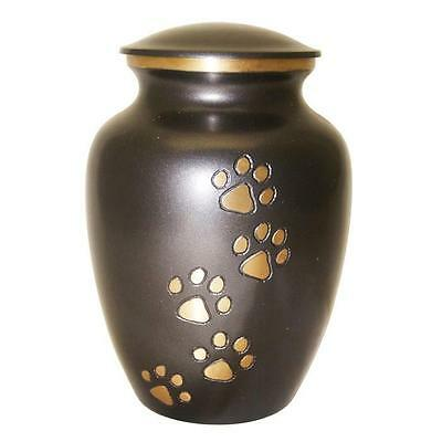 """Grey & Gold Urn for Pet Ashes  (6"""" NT-J019 Grey Gold)"""
