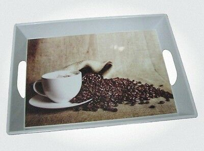 Melamine Tray 38.5 X 28 (Coffee Bean)