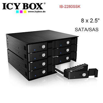 "ICY BOX IB-2280SSK - Backplane for 8x 2.5"" SATA/ SAS HDD and SSD"