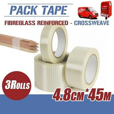 3x Filament Reinforced Tape Crossweave Fibreglass 4.8CM*45M Bundling Strap CT2