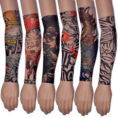 1 Pair Temporary Tattoo Sleeves Sleeves Stretch Elastic Tattoo Arm Stockings