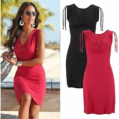Sexy Womens Summer Bandage Bodycon Evening Party Cocktail Beach Short Mini Dress