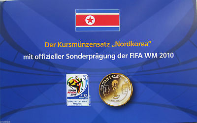 "Korea set of 5 coins 1959+ ""FIFA World Cup 2010"" UNC with token"