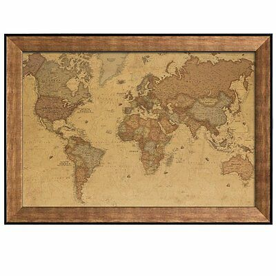 Colorful national geographic antique world map framed art prints antique world map in a sepia color scheme framed art prints 16x24 inches gumiabroncs Images