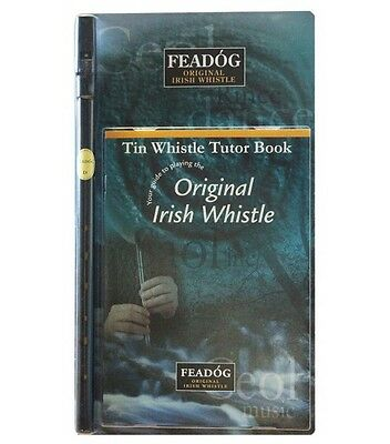 """Feadóg Double Pack (Colour/Nickel """"D"""") - Whistle and Book"""