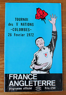 France v England 26 Feb 1972 Colombes Paris. 5 Nations Rare Rugby Programme