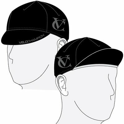 VeloChampion Under Helmet Cycling Cap - Black/Grey - One Size