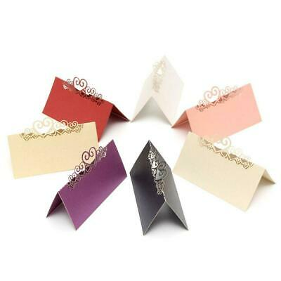 25PCS Pearlescent Paper Cards Laser Cut Heart Wedding Table Name Place Cards