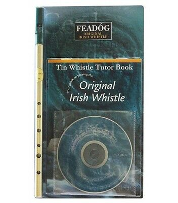 """Feadog Irish Whistle - Tutorial Book and CD - Triple Pack (Brass """"D"""")"""